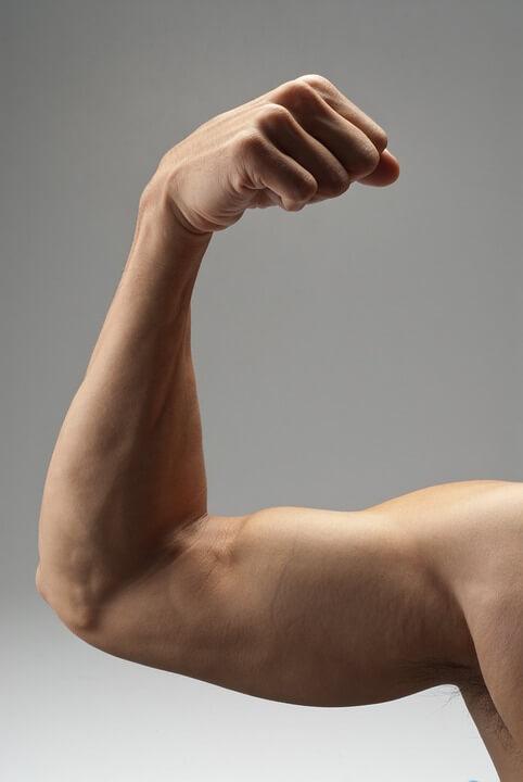 man after arm lift